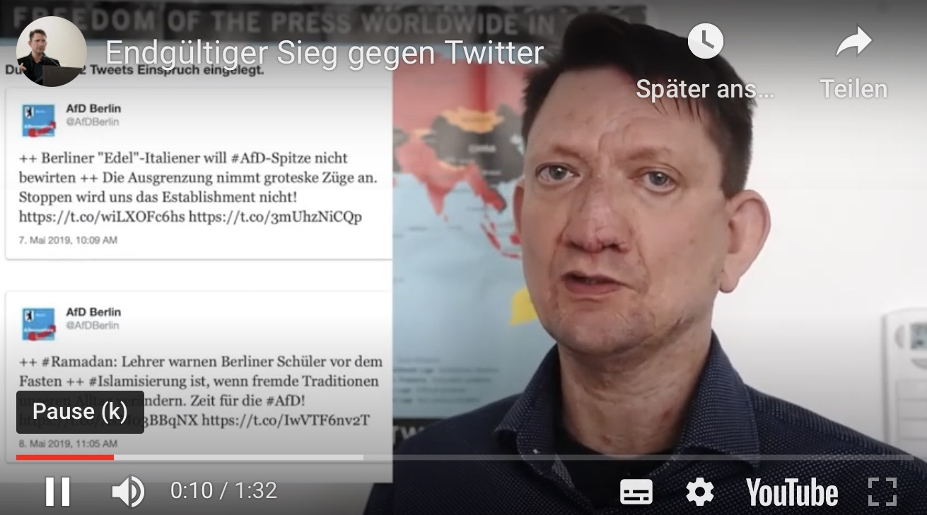 Erfolg gegen Twitter-Zensoren (mit Video)